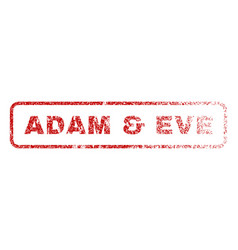 adam  eve rubber stamp vector image