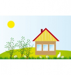 Cozy cottage vector