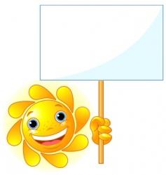 sun shows a sign vector image