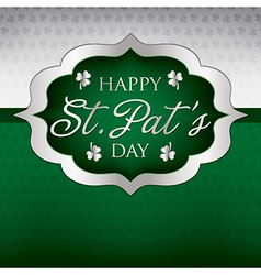 Saint patricks day card in format vector