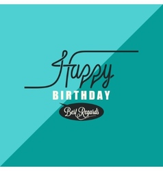 Birthday vintage background vector
