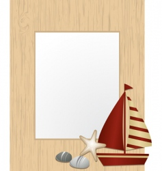 nautical picture frame vector image