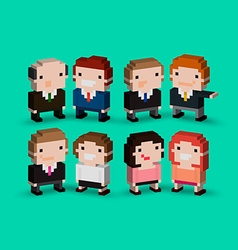 3d people vector image vector image