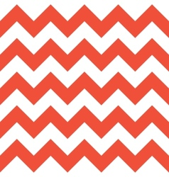 Red and white zigzag pattern vector