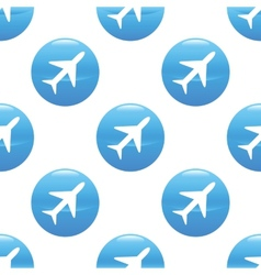 Plane sign pattern vector