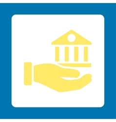 Bank service icon vector