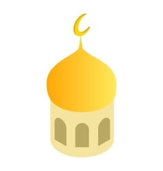 Mosque dome isometric 3d icon vector