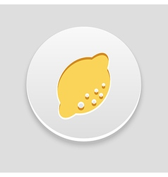 Lemon icon fruit vector