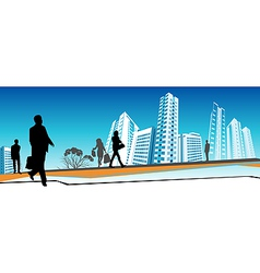 Business people walking vector