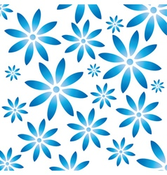 Floral pattern with gzhel flowers vector