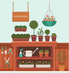 a greenhouse vector image