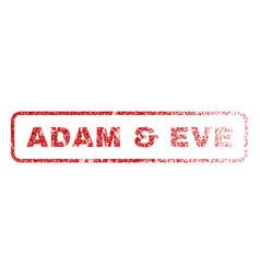 Adam eve rubber stamp vector