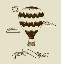 Air balloon image vector