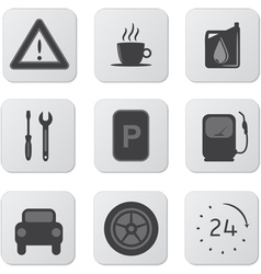 Automobile icons vector