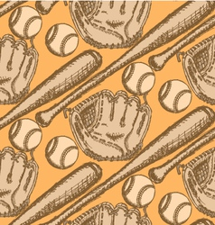 Baseball Bat Ball Glove vector image vector image