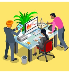Business indian 04 isometric people vector