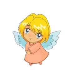Cute cartoon angel vector