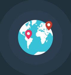 Earth world map vector