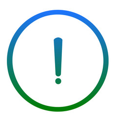 Exclamation mark sign white icon in vector