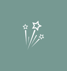 fireworks icon simple vector image vector image