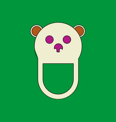 Flat icon design collection teddy bear bib vector