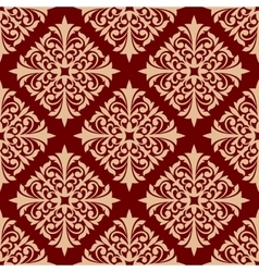 Floral seamless pattern with damask ornament vector image