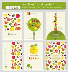 Fruit garden vector