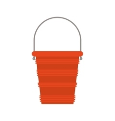 Full color with bucket play sand vector