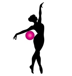 gymnast with ball vector image vector image