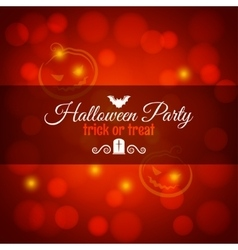 halloween card with bat and pumpkin background vector image
