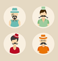 hipster style vector image vector image