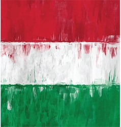 Hungarian flag colors painting vector