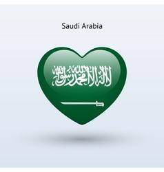 Love saudi arabia symbol heart flag icon vector