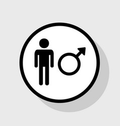male sign flat black icon in vector image vector image