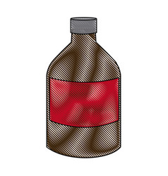 Medicine bottle liquid health care icon vector