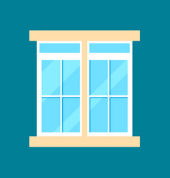 modern plastic window in flat design vector image