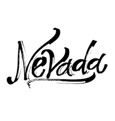 Nevada modern calligraphy hand lettering for vector