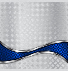 non-slip metallic surface with blue perforated vector image
