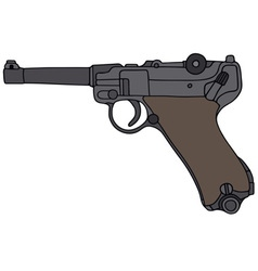 Old germany handgun vector