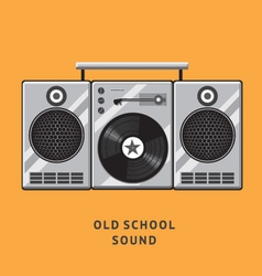old school sound vector image vector image