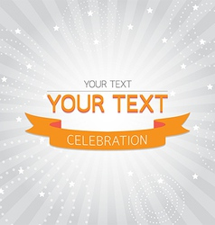 Orange vintage celebration card vector image vector image