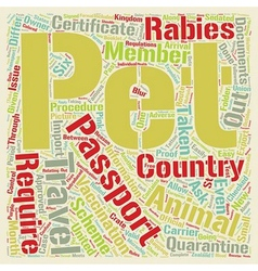Pet passport and pets 1 text background wordcloud vector