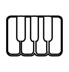 Piano keyboard isolated icon design vector image