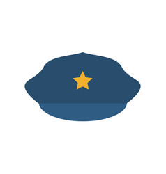 Police hat cartoon vector