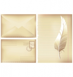Postage background vector