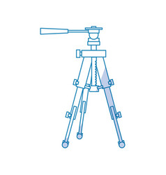 Professional photographic tripod vector