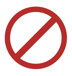 prohibited round sign vector image