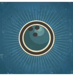 Retro bowling ball vector