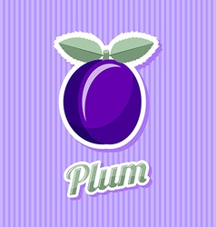 Retro plum vector