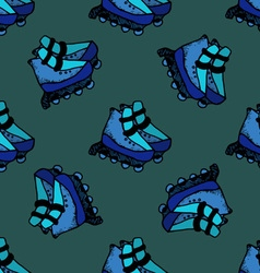 Roller skates seamless speed sport style summer vector image vector image